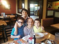 My boys with their Great Grandmother